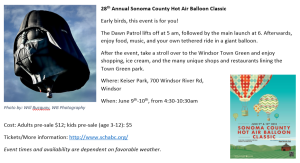 Copywriting example: Sonoma County Hot Air Balloon Classic event promotion
