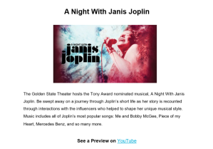 Copywriting sample: Janis Joplin concert announcement for a Monterey theater