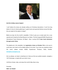 Copywriting sample: newsletter introduction for a real estate agent