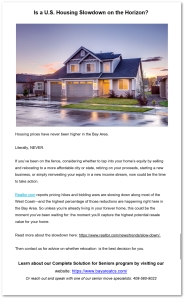Copywriting example: housing market update
