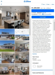 Example real estate property description on Zillow