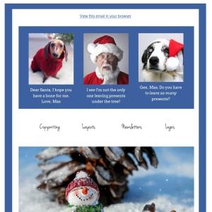 Mailchimp Christmas Templatetop