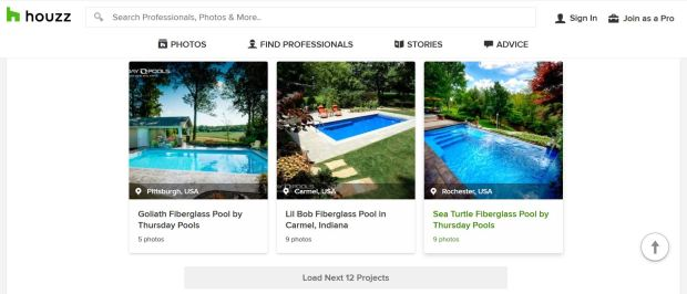 Examples of effective social media posts on Houzz