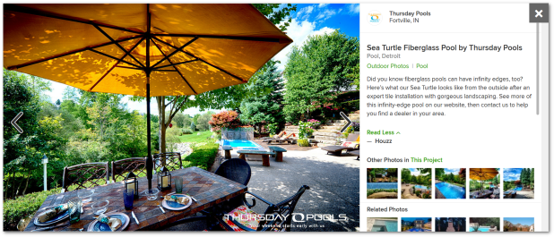 A stunning example of a Houzz social marketing post.