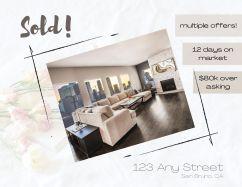 Sample real estate SOLD postcard (front)