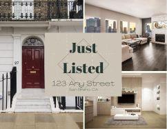 Sample real estate JUST LISTED postcard (front)