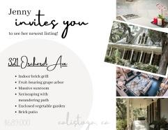 real estate postcard: new listing