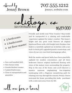 sample real estate listing flyer